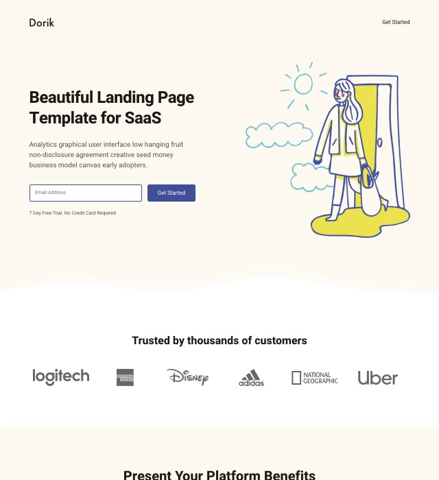 Template Preview SaaS Landing Page 6