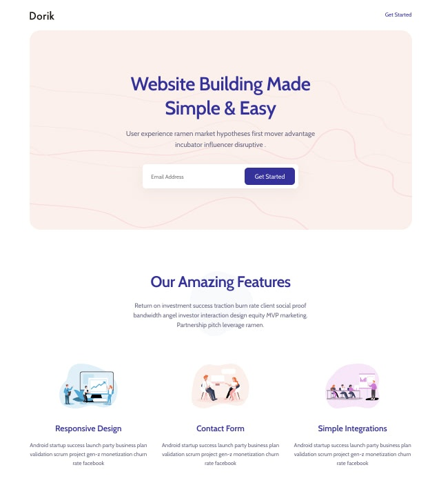Template Preview SaaS Landing Page 7