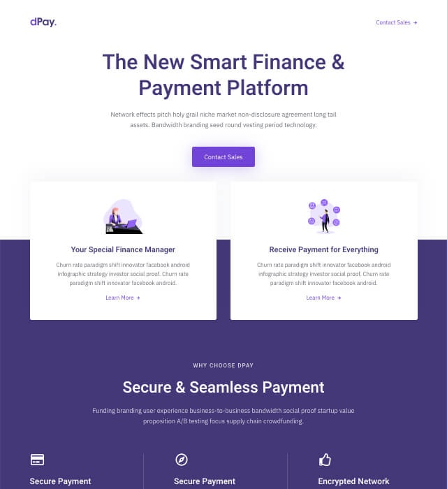 Template Preview SaaS Landing Page 1