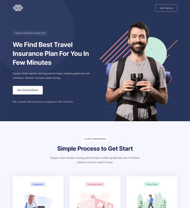 Template Preview SaaS Landing Page 5