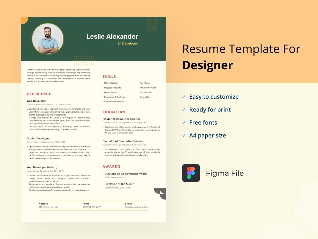 Resume UI Developer