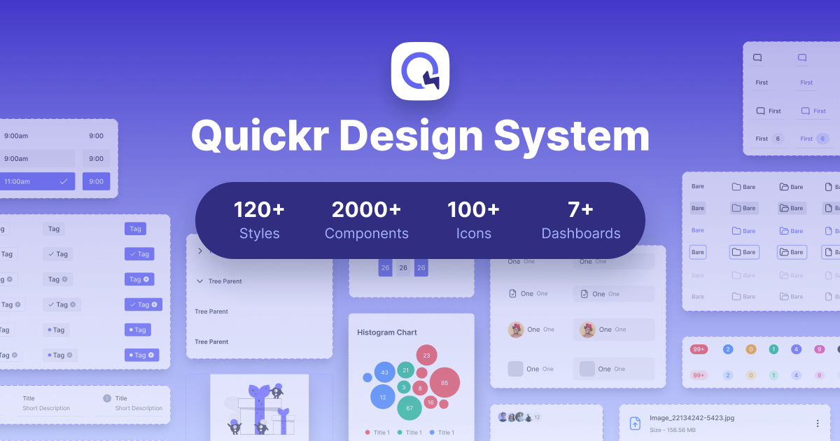 Download Quickr Design System and Start Designing Your Product                   Solution for the Users in Less than a Few Hours.