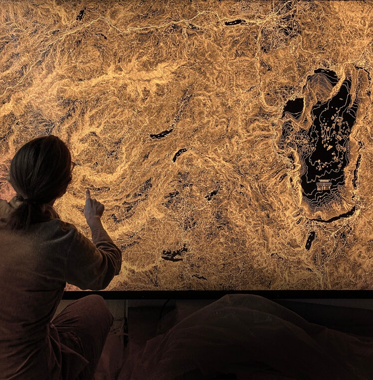 Illuminated map: 2,400 square miles around Lake Tahoe
