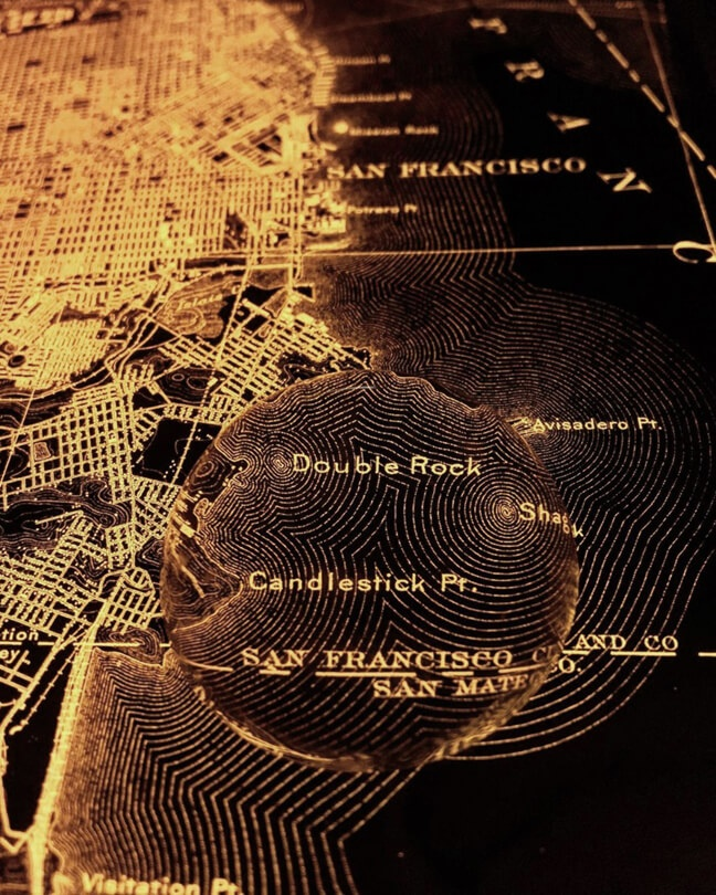 1915 topographic map of San Francisco.