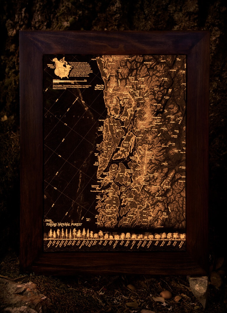 Tongass National Forest map by Evan Applegate