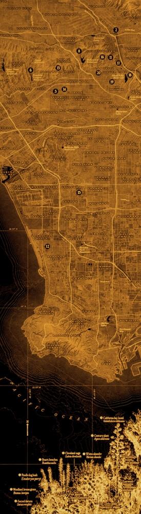 Los Angeles vegetation map
