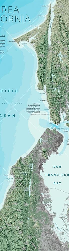 Bay Area, CA map