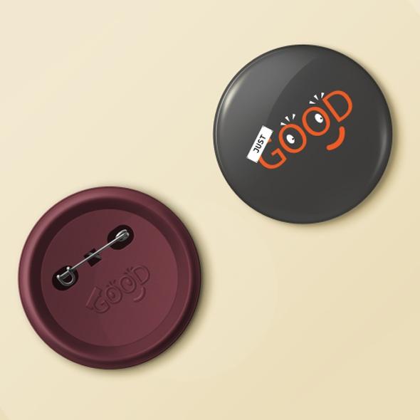 Just Good Badge pin designs