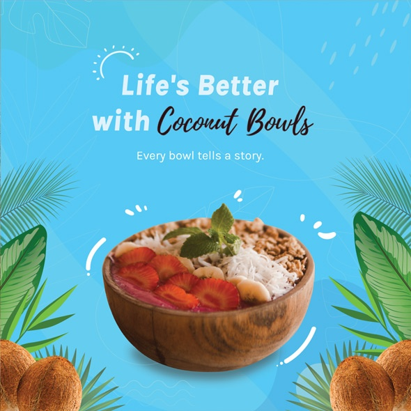 coconut bowls instagram ad