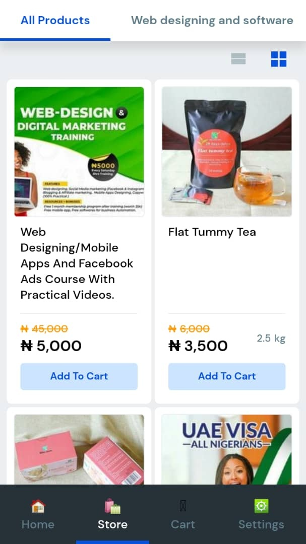 Ecommerce On mobile WhatsApp