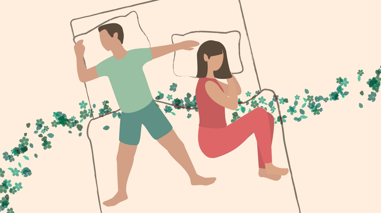 Couple Sleeping Positions, Starfish
