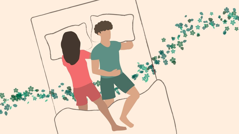Couple Sleeping Positions, Leg Hug