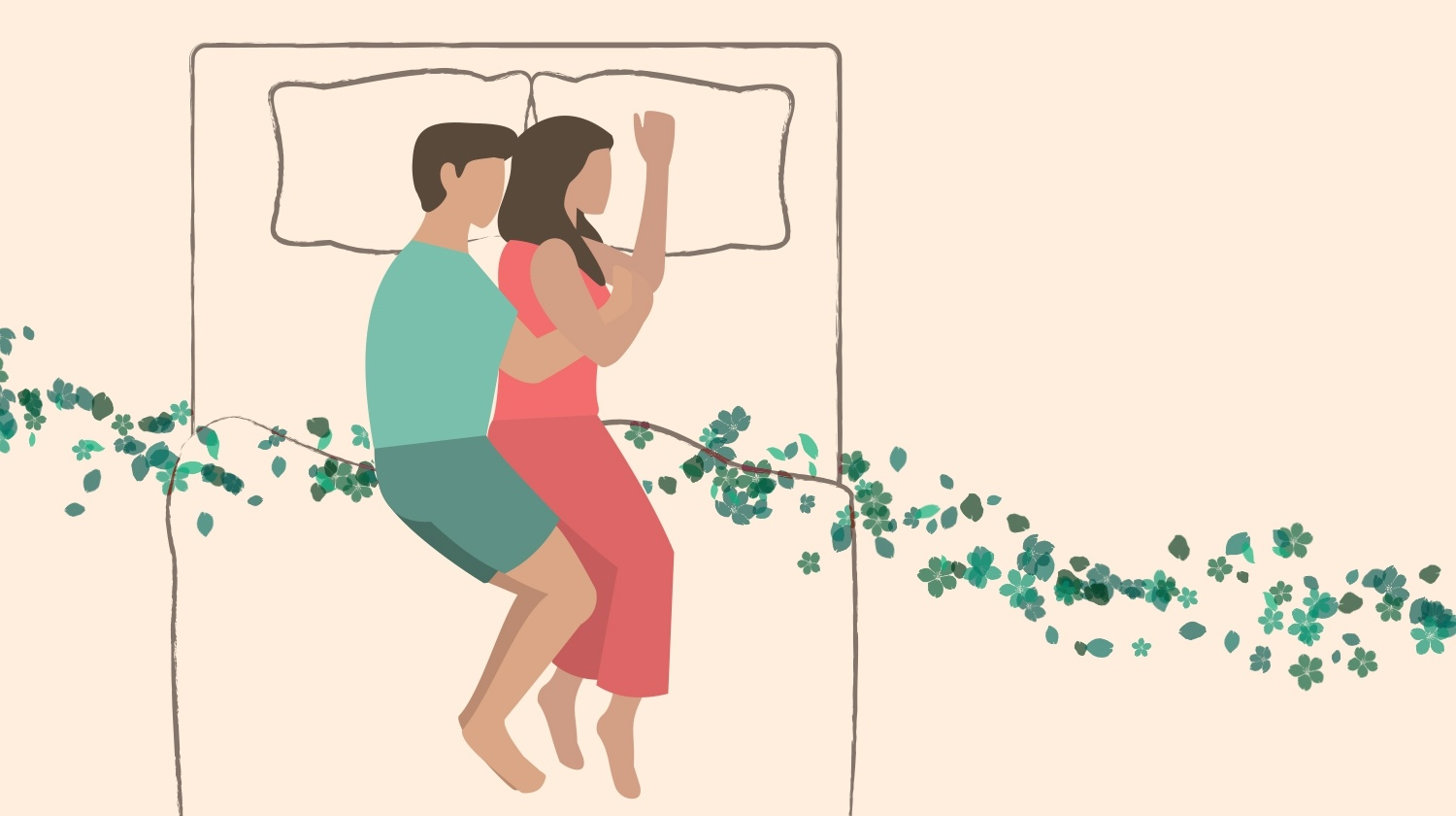 Couple Sleeping Positions, Spoon, Loose Spoon and Chasing Spoon
