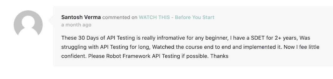 learn api testing course testimonials