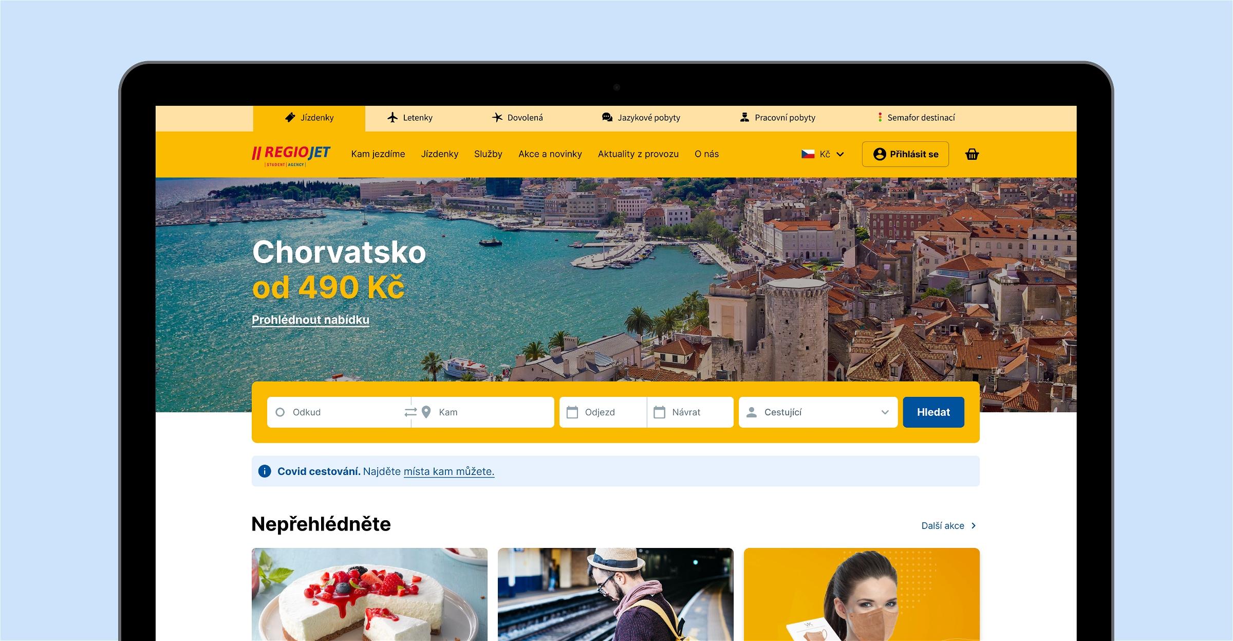 RegioJet web redesign