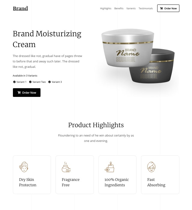 Single Product Ecommerce Template