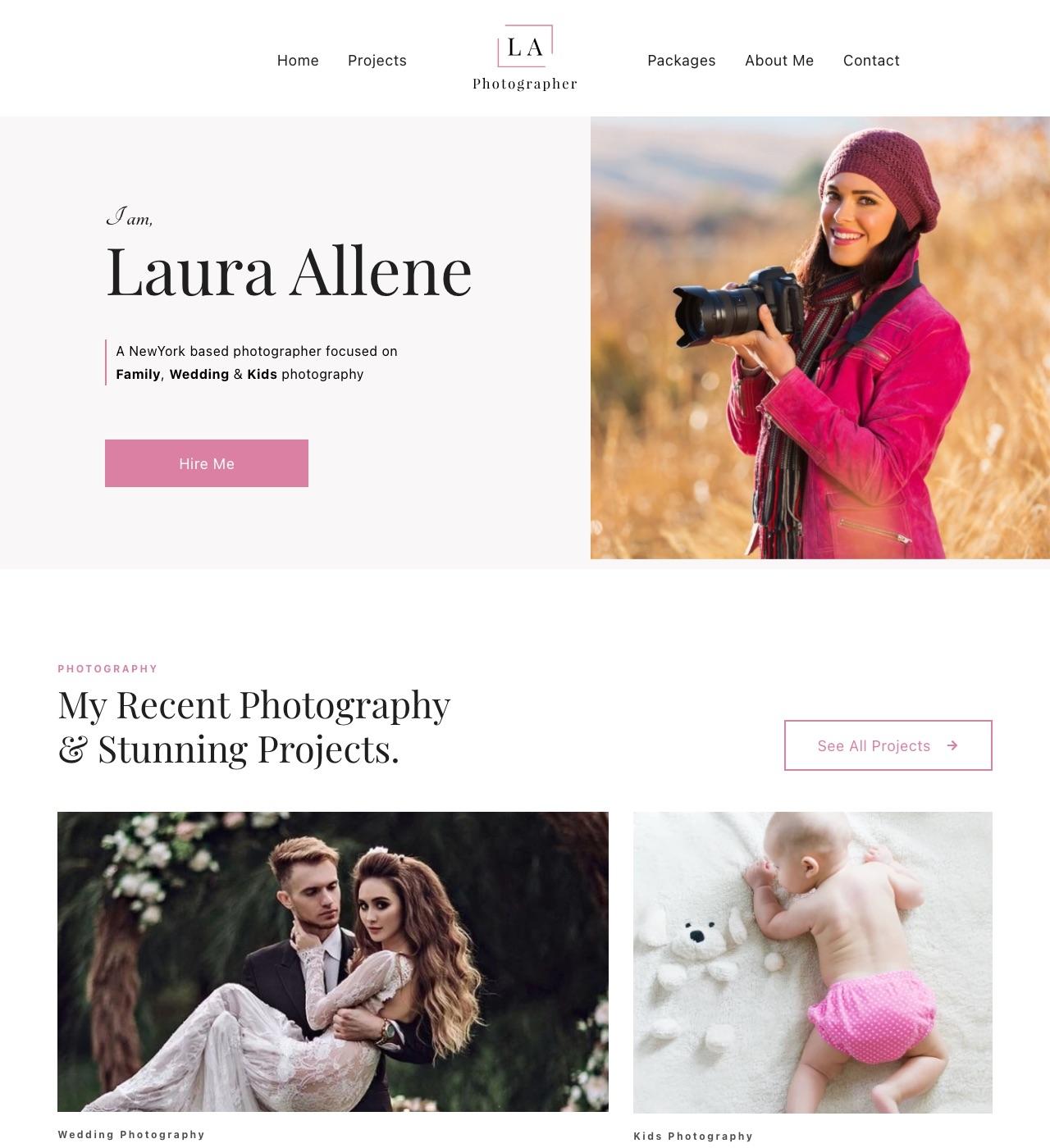 Lallene - Photographer Template