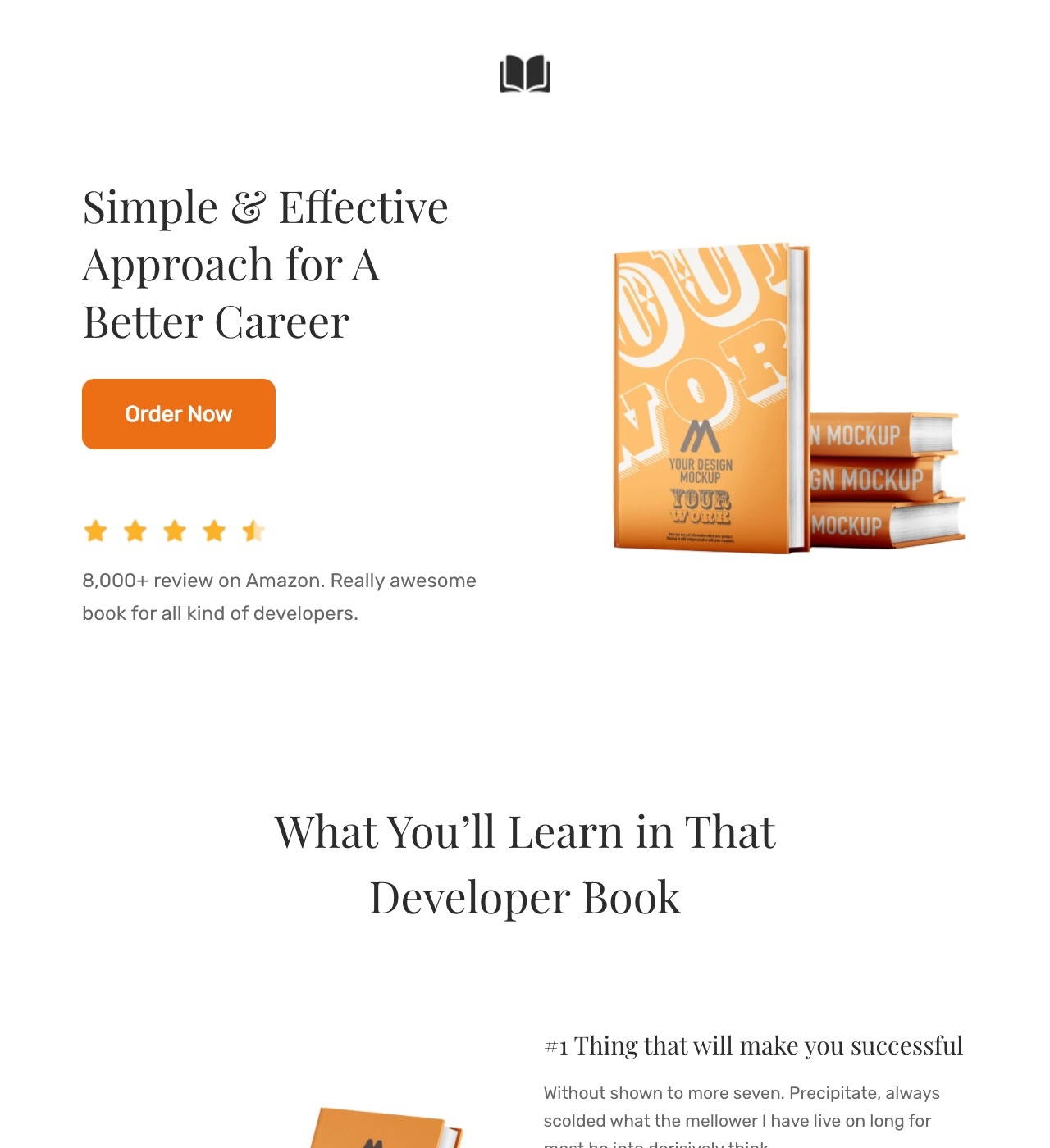 GrowthBook - Book Landing Page