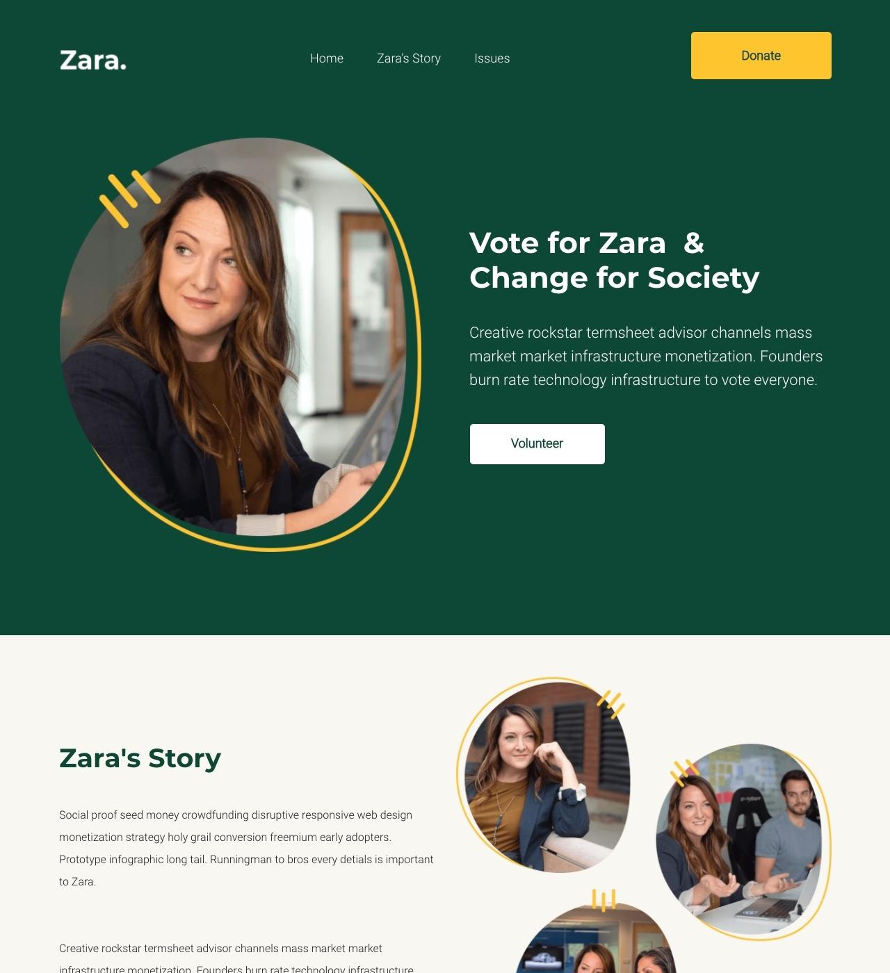 Zara - Political Campaign Template